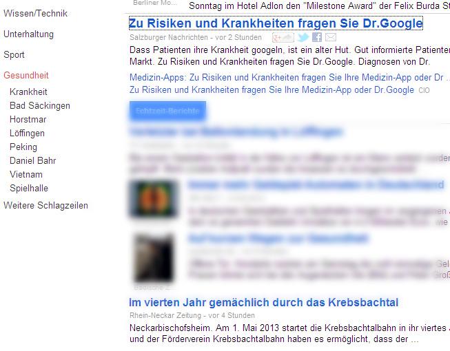Kunstfehler Dr Google