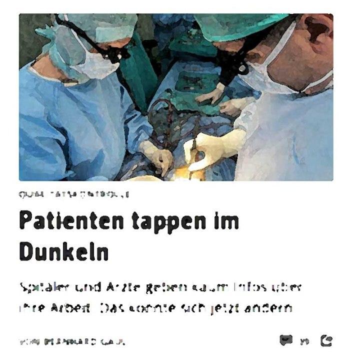 Patienten tappen