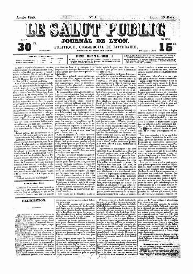 Le_Salut_Public_No_1_13_mars_1848